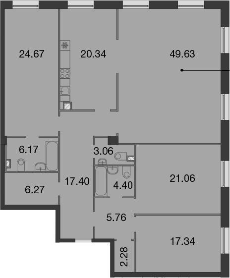 5Е-к.кв, 178.38 м²