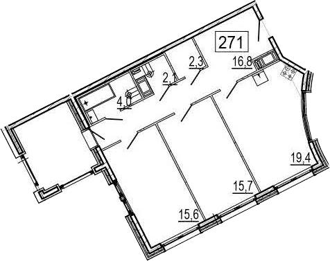 3Е-комнатная, 78.9 м²– 2