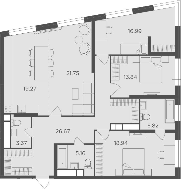 4-к.кв, 131.81 м²
