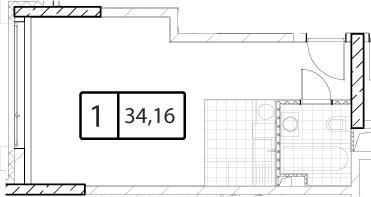 Своб. план., 33.16 м²