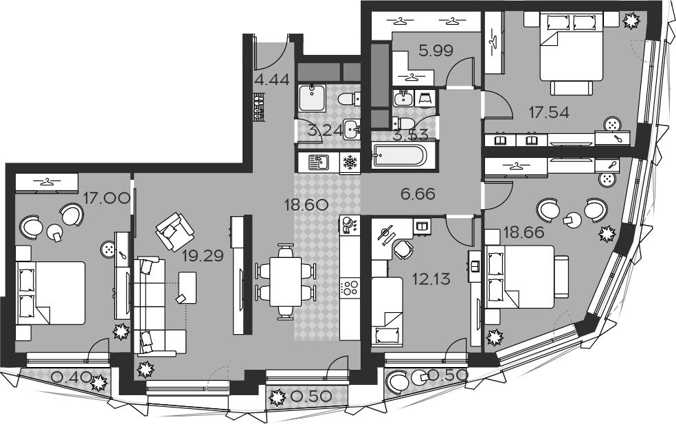 5Е-к.кв, 128.48 м²