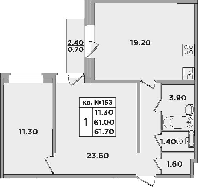 3-к.кв (евро), 63.33 м²