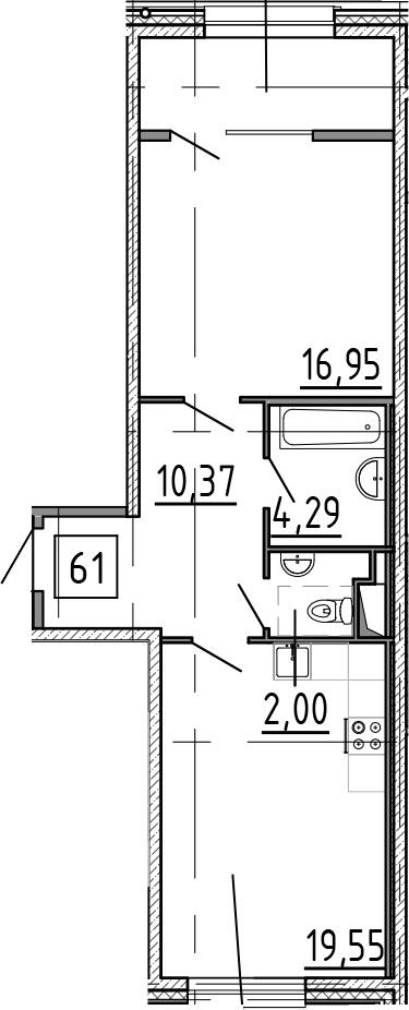 2-к.кв (евро), 59.31 м²