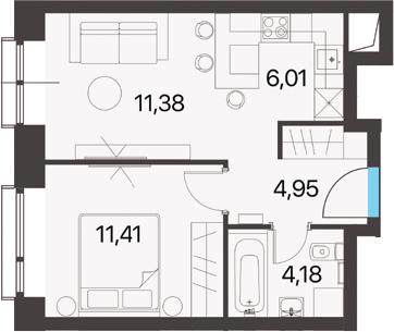2Е-к.кв, 37.93 м²
