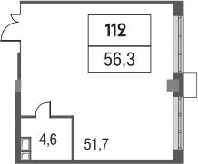 Своб. план., 56.3 м²