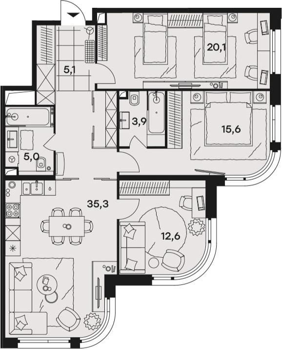 4Е-к.кв, 97.6 м²