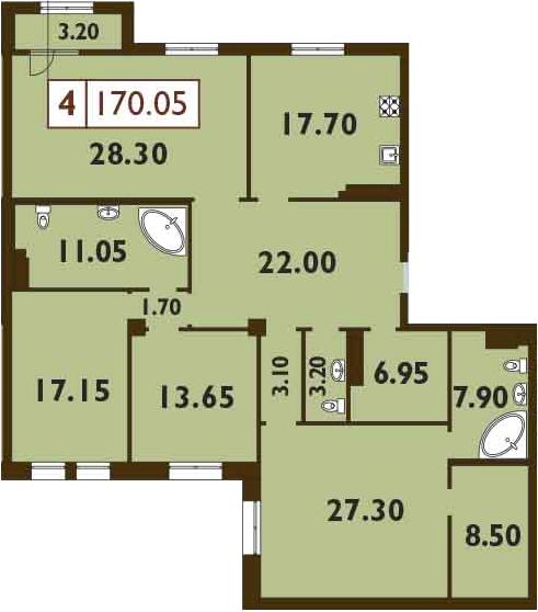 5Е-к.кв, 170.05 м²