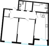 2-к.кв, 99.73 м²