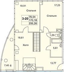 3-к.кв, 297.42 м²