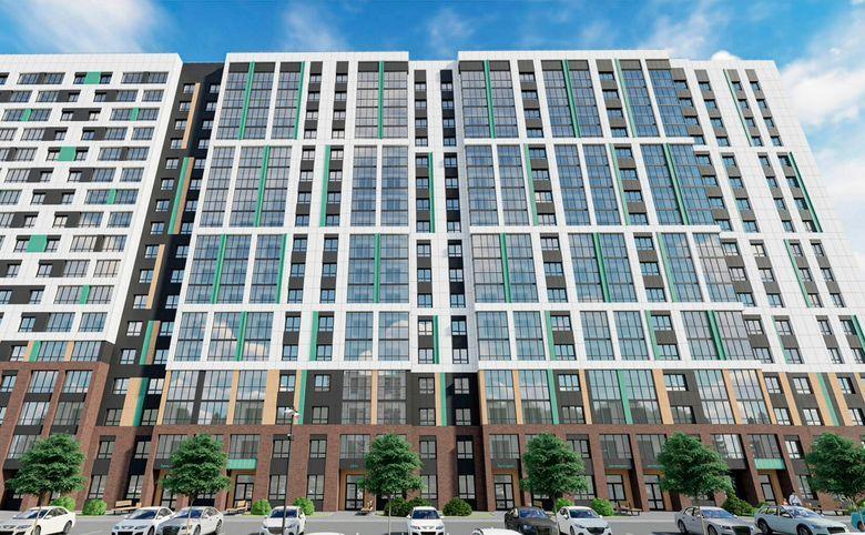 2Е-комнатная квартира, 40.2 м², 11 этаж – 2