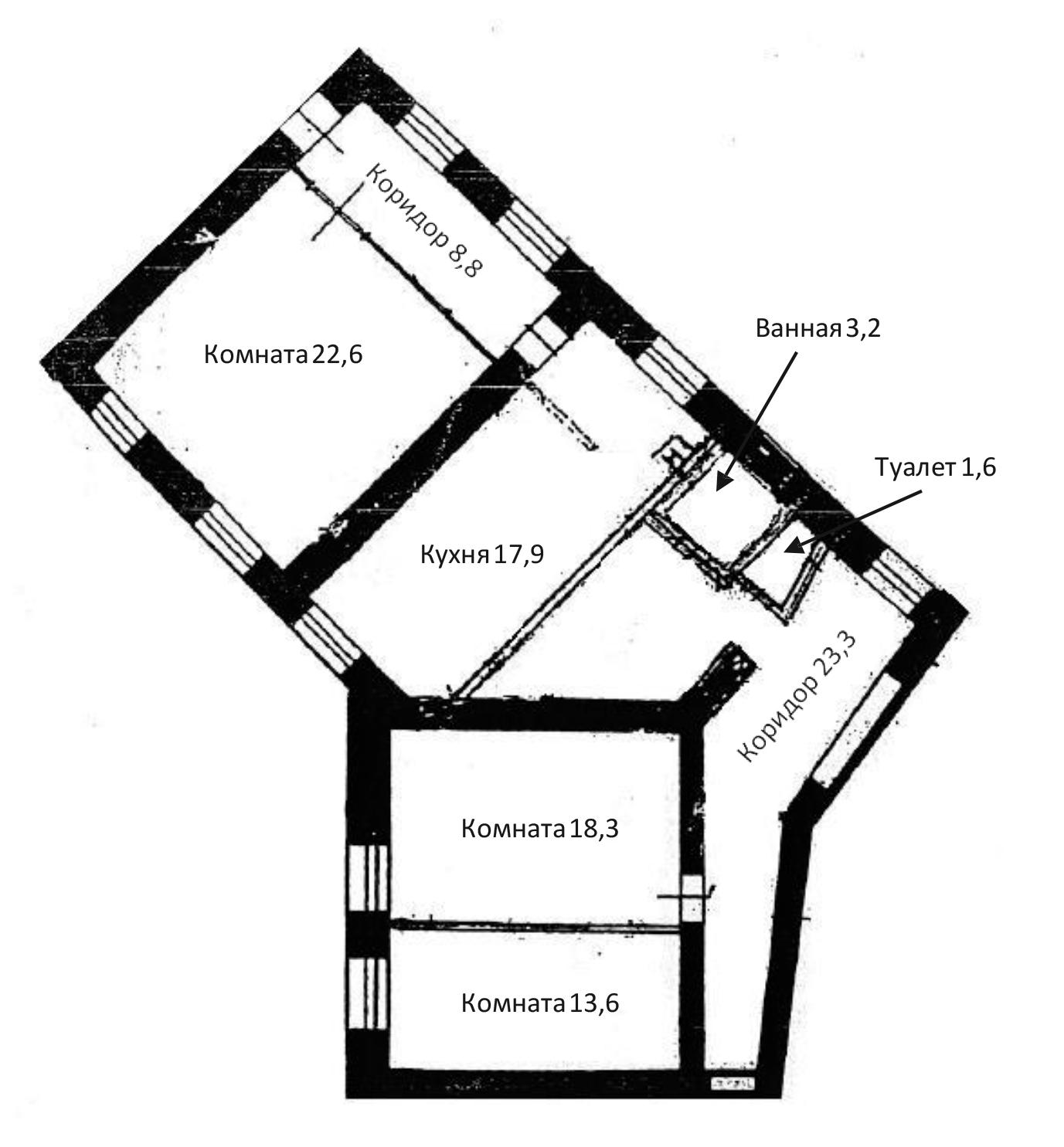 3-к.кв, 109.3 м²