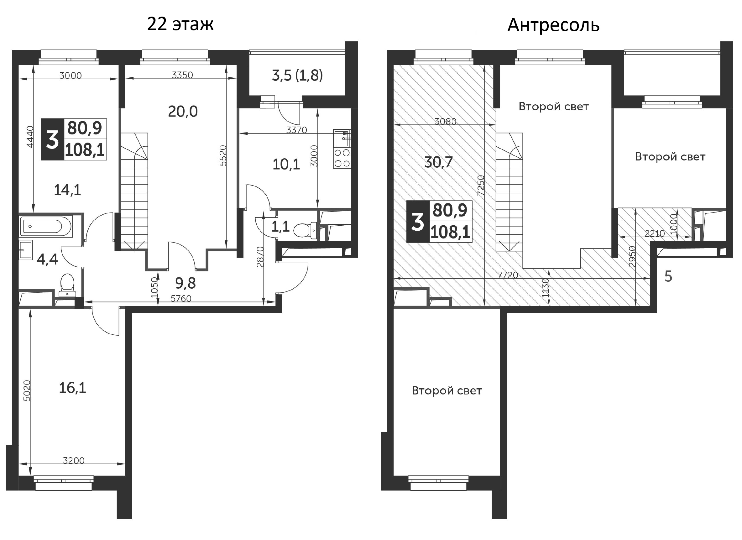 3-к.кв, 108.1 м²