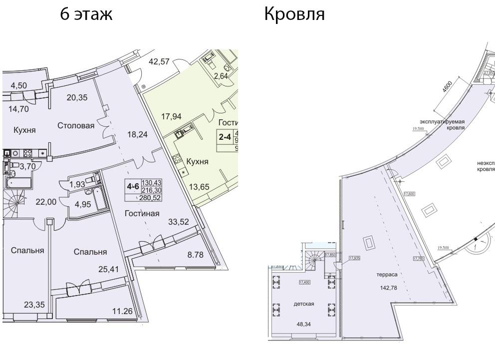 5-к.кв (евро), 441.98 м²