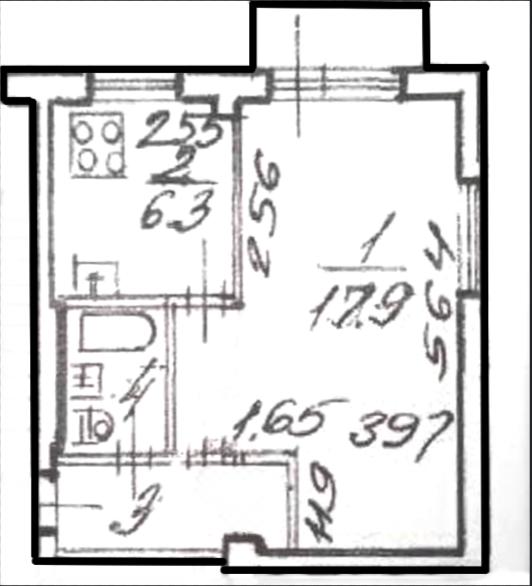 1-к.кв, 30 м²