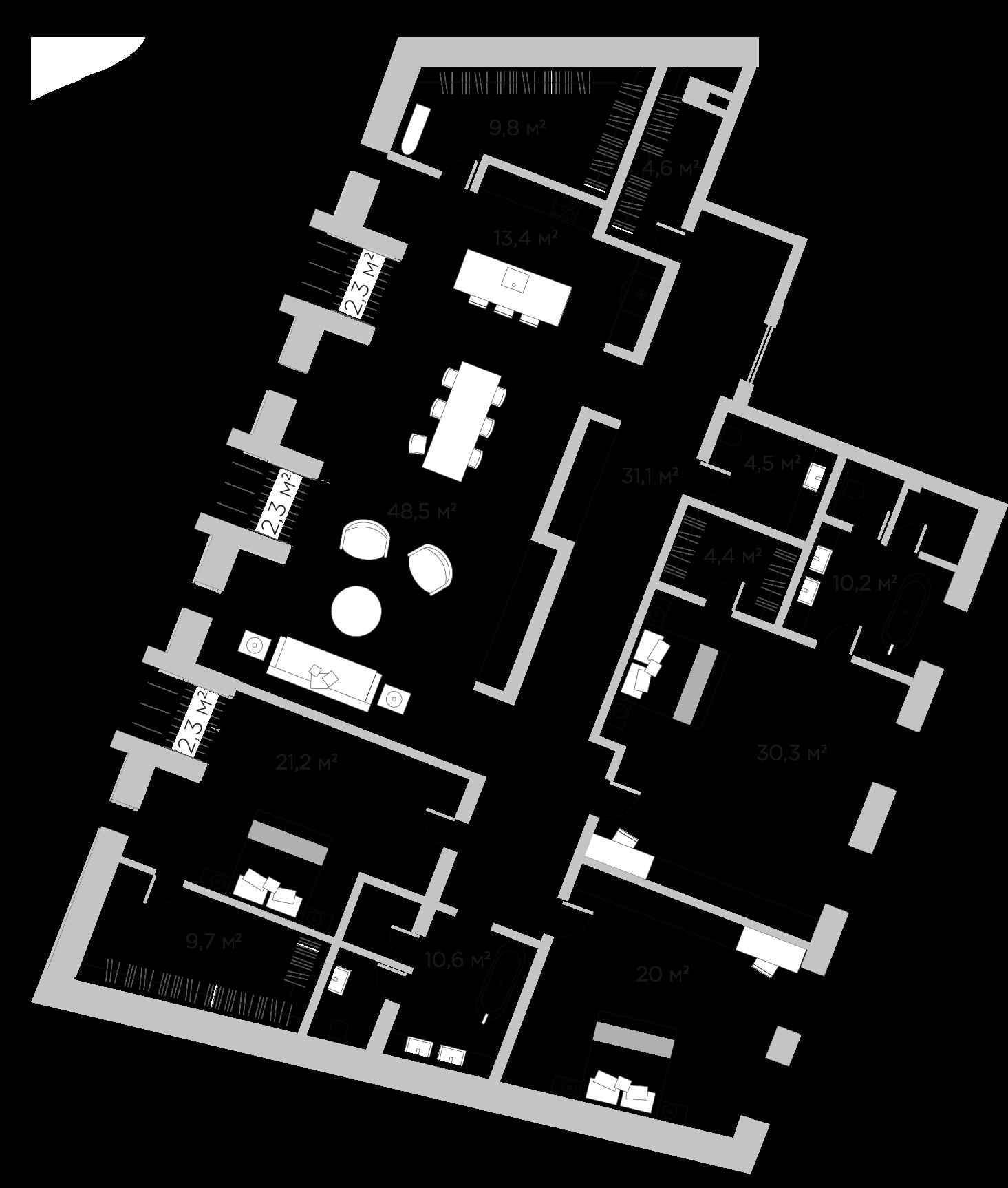 4Е-комнатная, 218.1 м²– 2