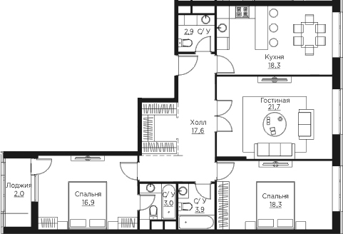 4Е-к.кв, 104.6 м²