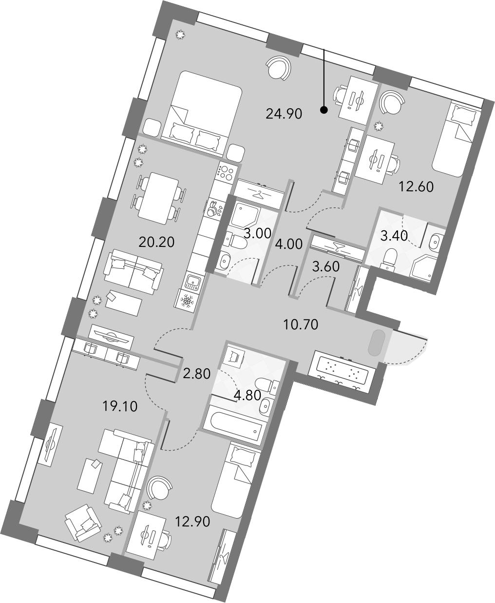 5Е-к.кв, 122 м²