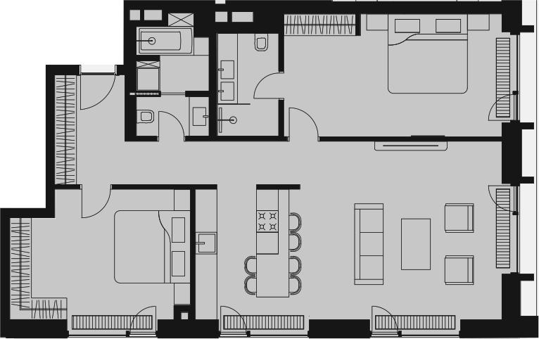 Своб. план., 99.65 м²