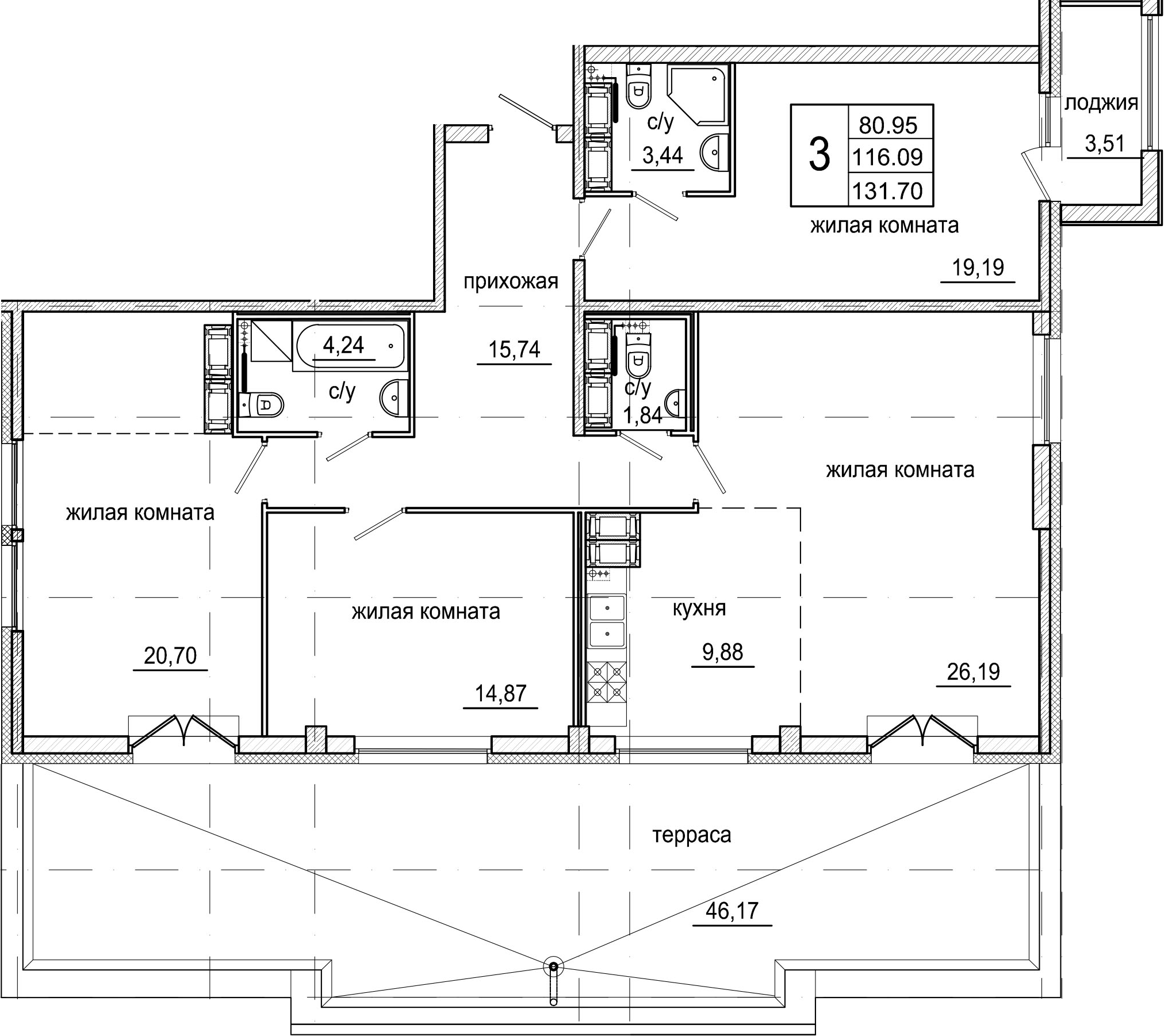 4Е-к.кв, 131.7 м²