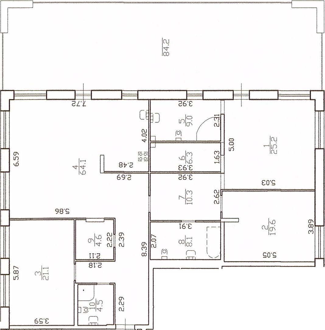 4-к.кв (евро), 257.04 м²