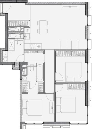 Свободная планировка, 82.8 м²– 2