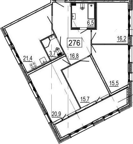 5-к.кв (евро), 129.7 м²