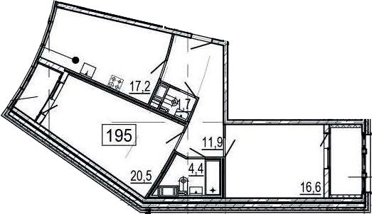 3-к.кв (евро), 80.3 м²
