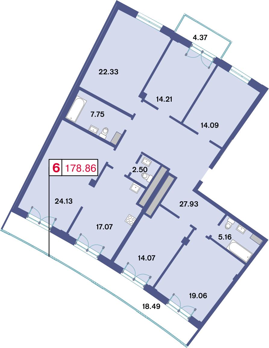 6-к.кв, 188.71 м²