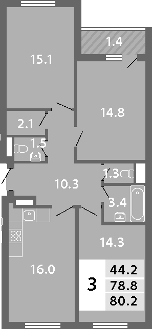 4-к.кв (евро), 81.58 м²