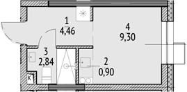 Студия, 17.5 м²– 2
