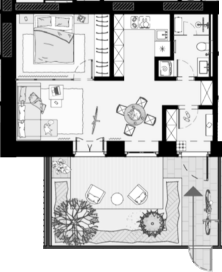 Своб. план., 44.3 м²