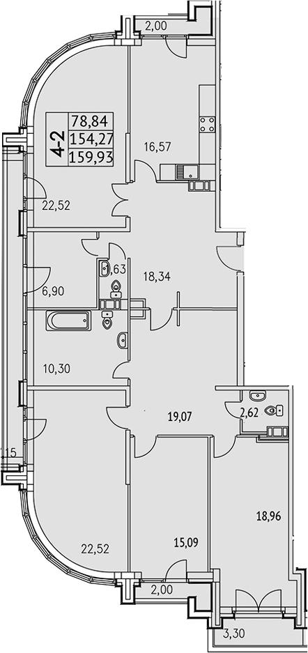 4-к.кв, 178.82 м²