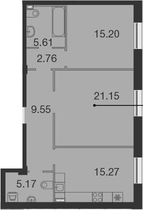 3Е-к.кв, 74.71 м²