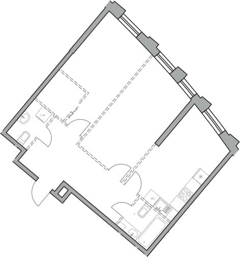 Свободная планировка, 68.58 м²– 2