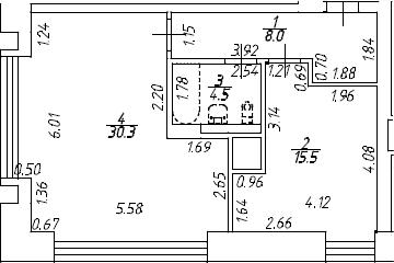 2Е-к.кв, 57.2 м², 7 этаж