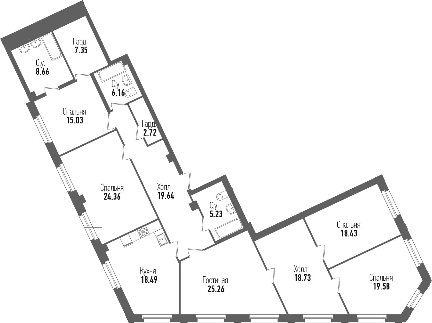 5-к.кв, 189.64 м²