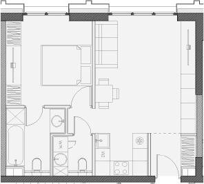 Свободная планировка, 46.1 м²– 2