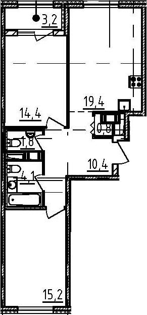 3Е-к.кв, 67.7 м²