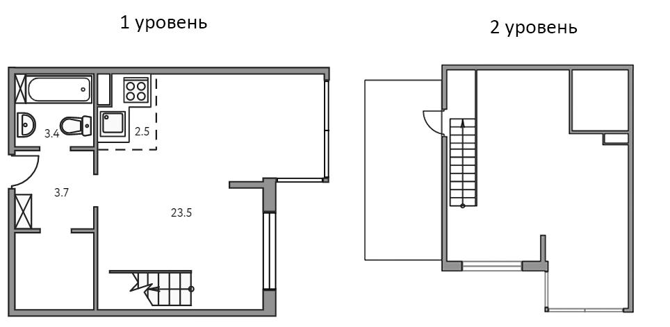 Свободная планировка, 50.5 м²– 2