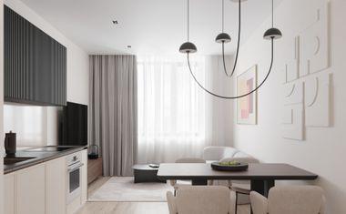 1-комнатная, 41.8 м²– 6