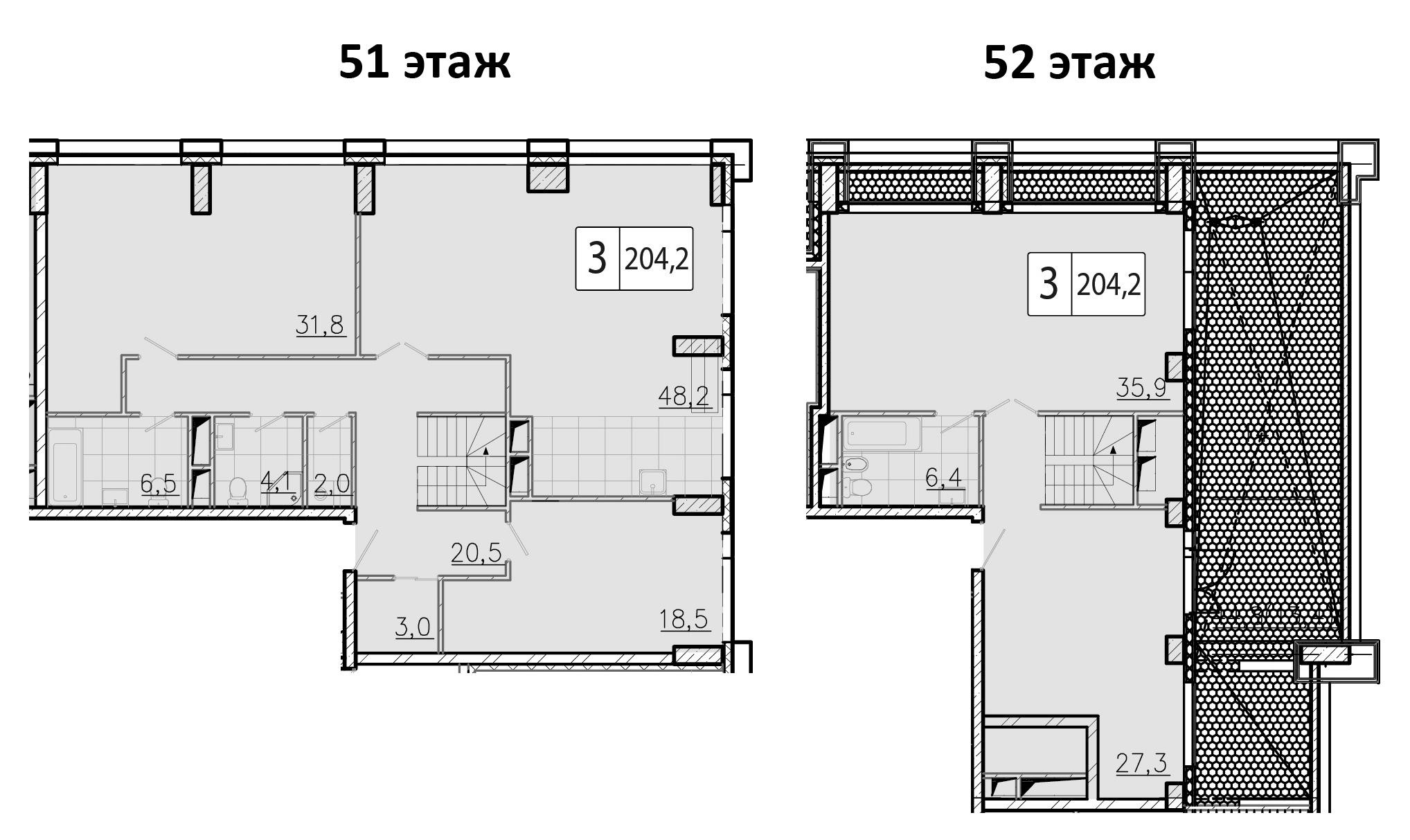 5-к.кв (евро), 204.2 м²