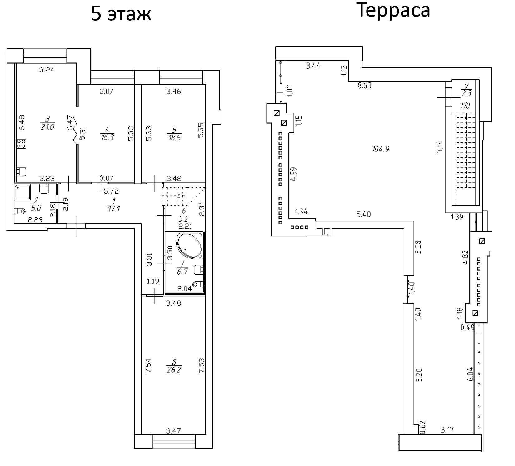 4-к.кв (евро), 223.3 м²
