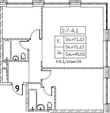 Свободная планировка, 71.13 м²– 2