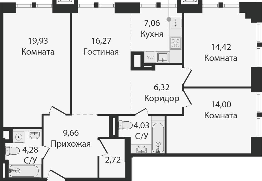 4Е-к.кв, 98.69 м²
