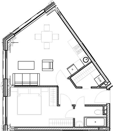 Свободная планировка, 47.18 м²– 2