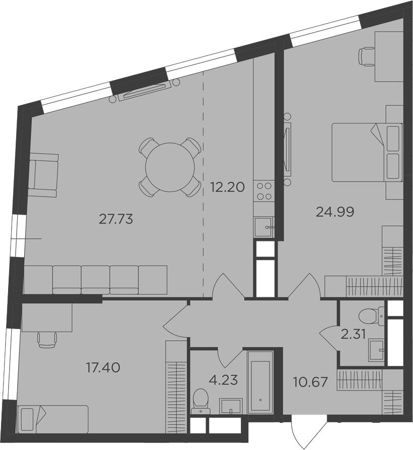 3Е-к.кв, 99.53 м²