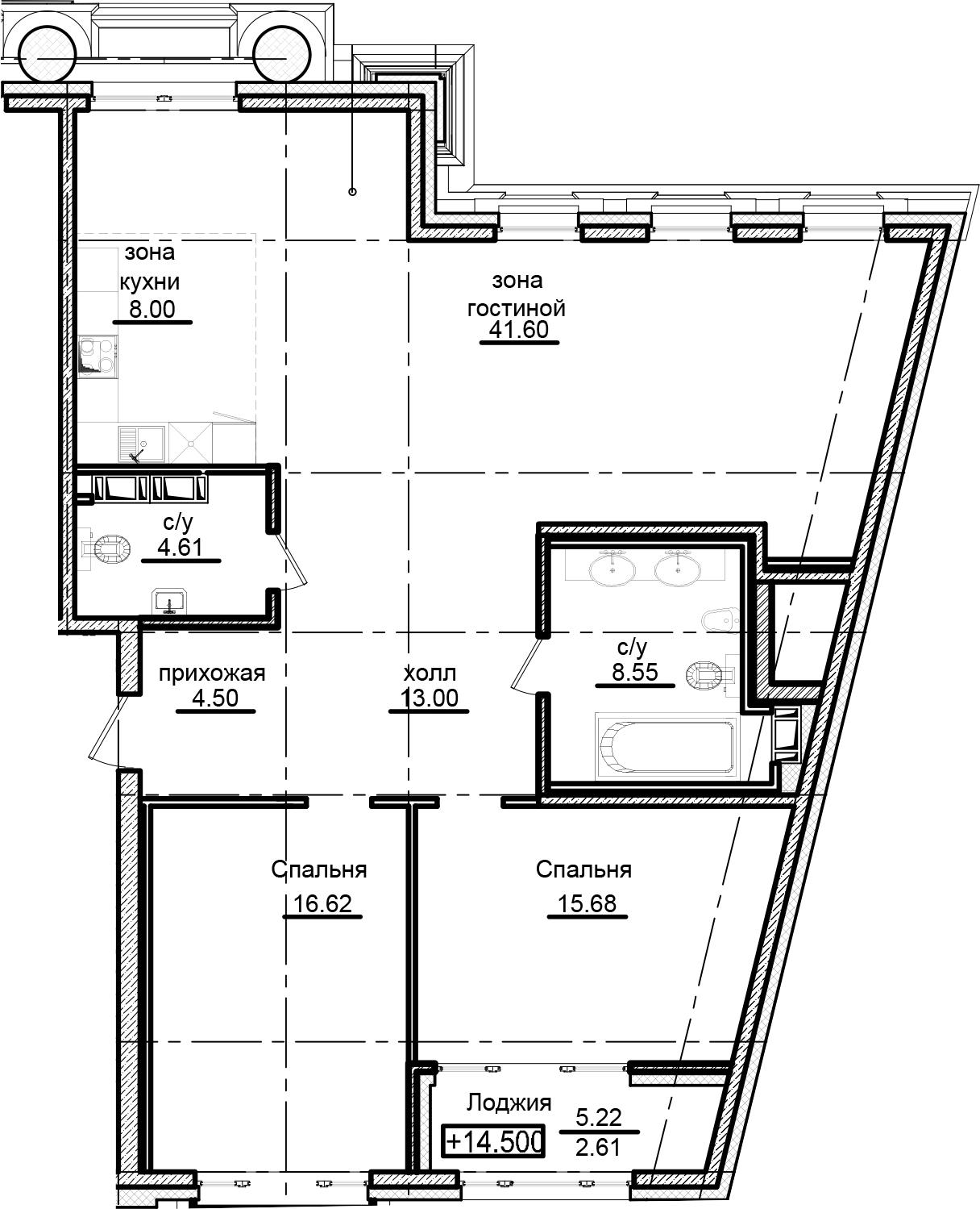3Е-к.кв, 115.17 м²
