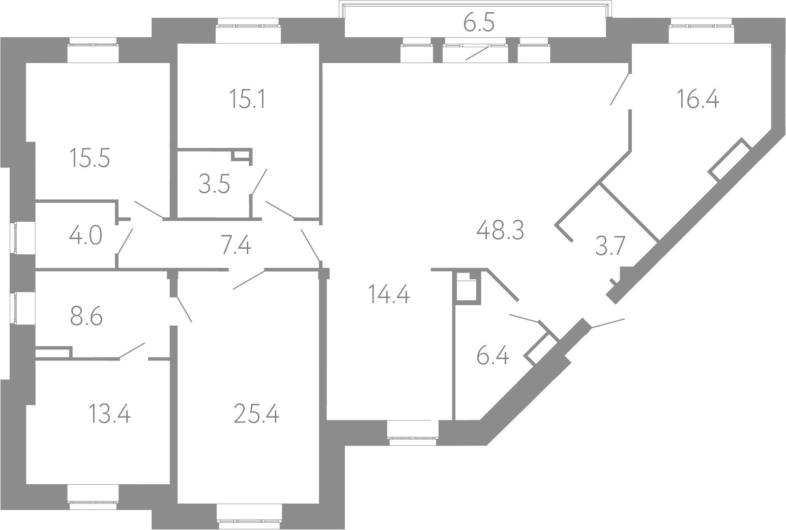 4-комнатная, 182.1 м²– 2