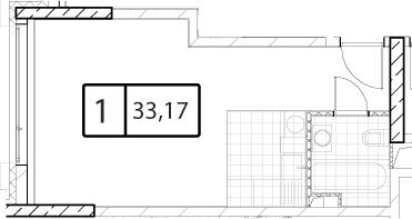 Своб. план., 33.17 м²
