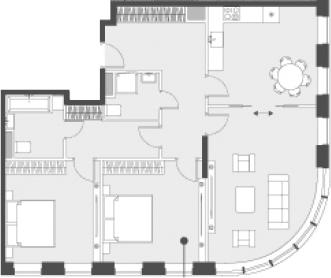 Свободная планировка, 90.2 м²– 2